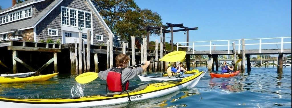 kayak tour in Casco Bay