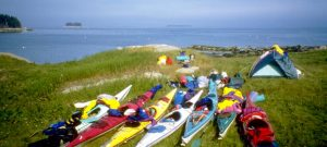 kayak camping in Penobscot Bay