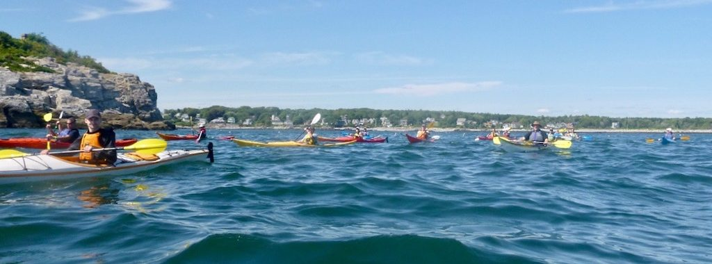 group of sea kayakers