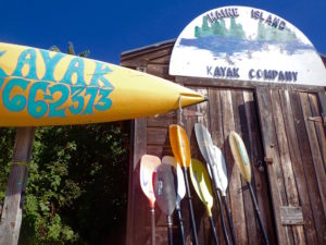Maine Island Kayak Co paddle display