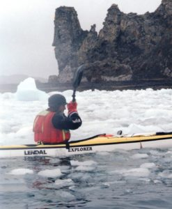kayaker expeditioning around Nelson Island, South Shetlands