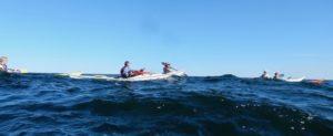 sea kayaking in bumpy water
