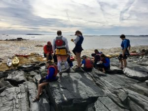 Bates College geology students on Yarmouth Island