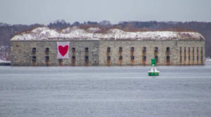 Fort Gorges on February 14