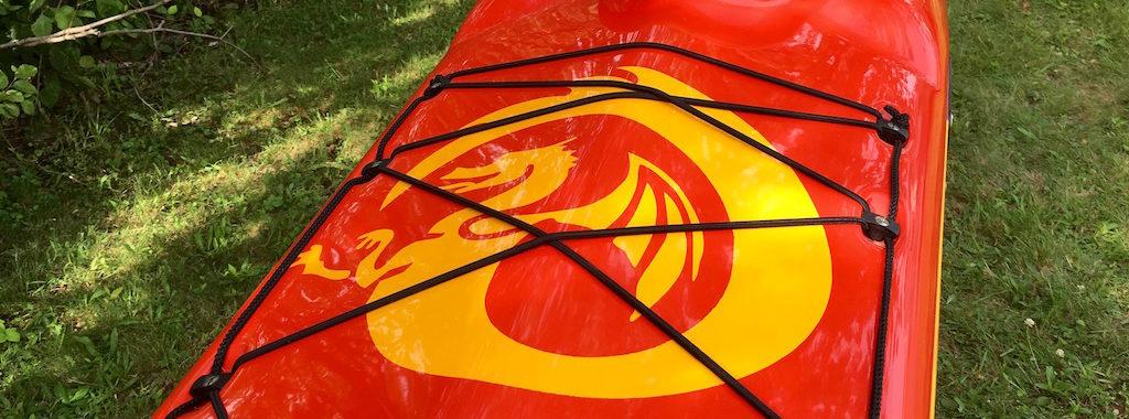 Latitude red:white:yellow foredeck dragon