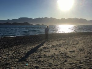 Baja beach at sunset