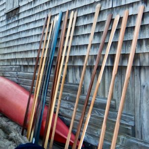 Greenland paddles at the Maine Greenland Kayak Festival